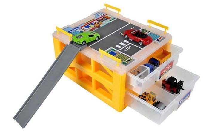【阿LIN】0729AA 工具盒迷你停車場 收納箱 立體停車場 小車收納箱 汽車