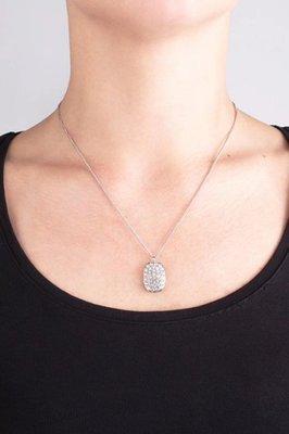 =86號店=丹麥原創設計師DYRBERG/KERN 316不銹鋼材質 施華洛奇水晶 女水晶項鍊 銀如圖色