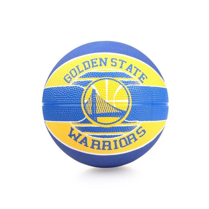 SPALDING Warriors SZ3 兒童-勇士 籃球(3號球 隊徽球 斯伯丁【99301873】≡排汗專家≡