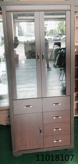 【弘旺二手家具生活館】中古/二手 胡桃色收納櫃 三層一抽櫃 半實木收納櫃 書櫃-各式新舊/二手家具 生活家電買賣