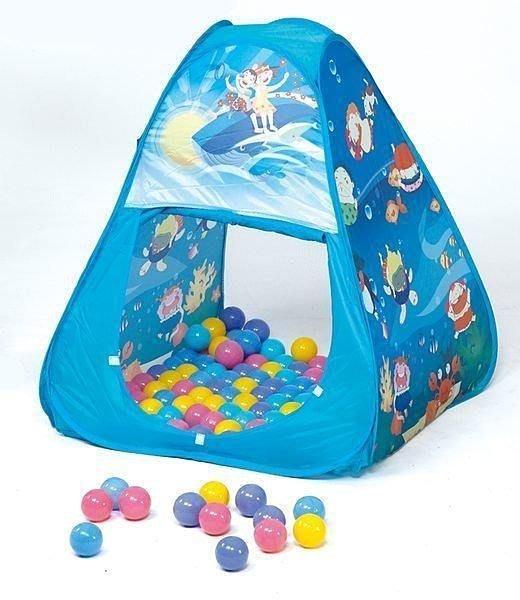 @企鵝寶貝@ 三角帳篷摺疊遊戲球屋 ( 贈100顆彩球 ) CBH-01