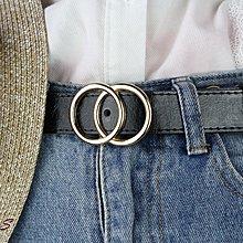 SAS 雙圓圈造型皮帶 簡約金屬皮帶 復古PU皮帶 圓頭針扣皮帶 女皮帶 造型皮帶 腰帶 休閒皮帶【756】