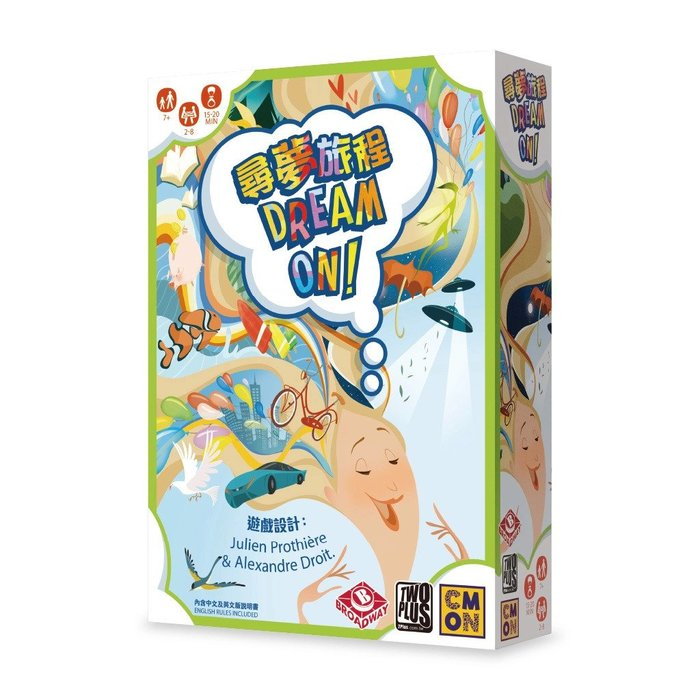 骰子人桌遊-(送牌套) 尋夢旅程 Dream On (繁) 合作卡牌.多人派對.破冰好遊戲