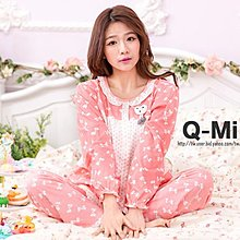 Q米卡內衣〃居家服。睡衣。可愛蝴蝶結。舒適 M~XL都可穿 1111