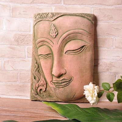 泰國工藝品禮品 時尚環保宗教會所 商務會所石雕佛臉擺件140101
