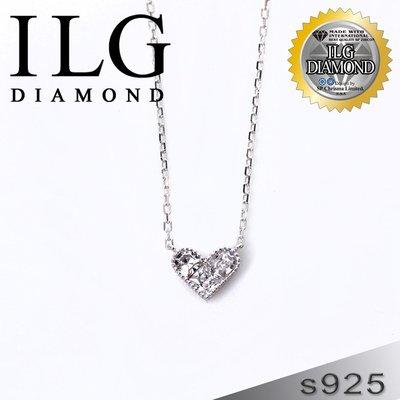 【頂級美國ILG鑽飾】八心八箭項鍊-Love系列 NC123 永固愛情款項鍊 擬真鑽石項鍊 甜美心型 少量現貨