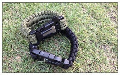 《信捷》【L94】7芯傘繩手鍊 多功能傘繩求生手鍊 求生手環手繩打火棒帶口哨 野外求生 小號