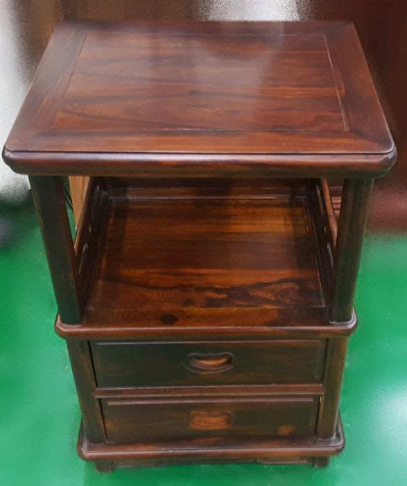仿古家具【樂居二手家具】ZM316BI*全新雞翅木電話架*實木洽談桌椅休閒會議桌椅泡茶桌椅 書桌椅 辦公桌椅 會議桌