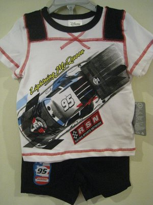 Disney Cars 男童休閒套裝 2T