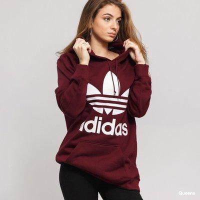 # adidas Originals 愛迪達 三葉草 粉色 粉白 LOGO 棉T 長袖 連帽 帽T DH3152 YTS