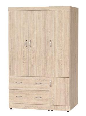 【南洋風休閒傢俱】精選時尚衣櫥 衣櫃 置物櫃 拉門櫃 造型櫃設計櫃- 無敵梧桐木4*6尺衣櫥 CY184-46