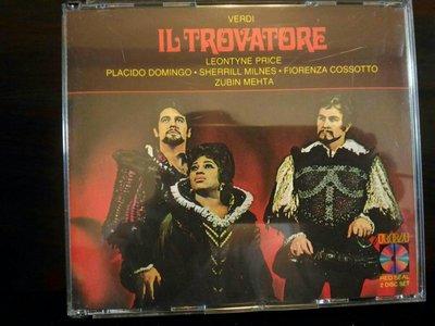 Zubin Mehta,Price,Verdi-Il Trovatore祖賓梅塔普萊絲威爾第-遊唱詩人,2CD,RCA紅標版,CD無瑕疵,售出不接受退換貨。