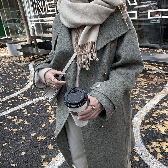 ◎緹蕾雅◎高級訂製設計款韓版多穿法排扣70%手工雙面羊毛大衣外套實拍/蕾絲口罩正韓洋裝羽絨針織外套貼紙收納保護貼/現+預