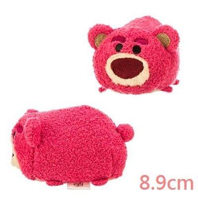【美國大街】正品.美國迪士尼玩具總動員熊抱哥堆疊娃娃手機擦布 Lotso 3.5吋 / 8.9cm【Tsum Tsum】