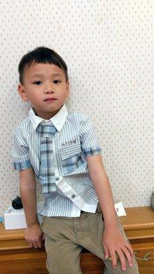 艾町Eyeing Shop 🈶現貨 韓版 學院紳士風翻領短袖襯杉+領帶二件組