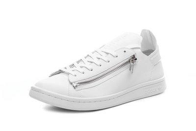 D-BOX  Adidas Y-3 Stan Smith Zip 皮革 運動休閒鞋 白色 雙拉鏈 BB4797