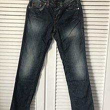 W27 【Hugo Boss】深藍刷白直筒牛仔褲