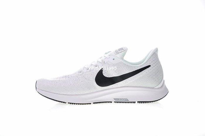 "Nike Air Zoom Pegasus 35 登月 網面 透氣 慢跑鞋 ""全白黑勾""Ao3939-100 男鞋"