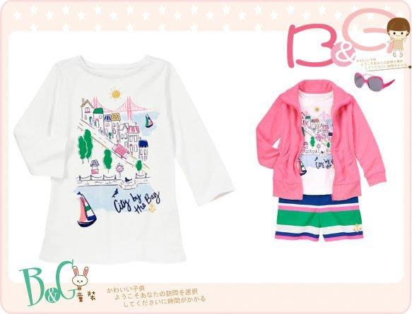 【B& G童裝】正品美國進口GYMBOREE城市街道圖樣長袖上衣6,7yrs