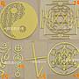 手機貼紙 金屬貼六芒星 大天使 陰陽太極生命之花 能量圖案  能量貼紙 能量符號