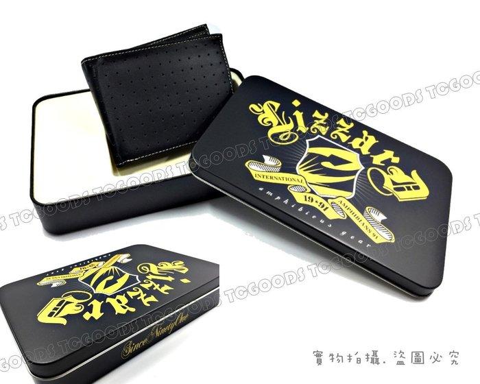 【台中好物】出口好牌 多功能網點黑色仿皮 附馬口鐵盒包裝 多功能對折短夾 皮夾 短夾 手拿包 卡包 錢包