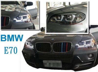 JY MOTOR-- BMW X5 E70 08 09 10 11 12 13 年 黑框 R8燈眉 雙U 魚眼 大燈