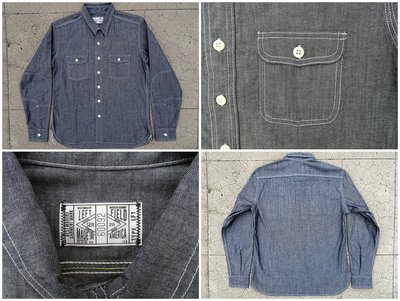 Left Field 9oz Cone Mills Chambray Dust Bowl Work Shirt 布雷襯衫