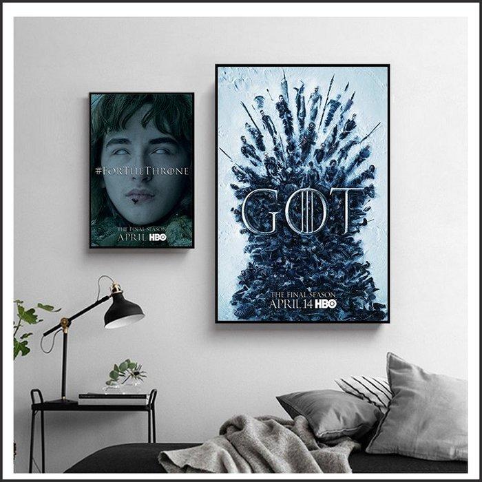 日本製畫布 電影海報 冰與火之歌 權力遊戲 第八季 Game of Thrones Season 8 ~