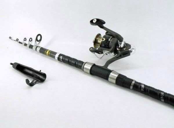 【買家購】火狐狸高級硬質釣竿組9尺~附捲線器,硬竿輕巧防滑,反應快速,送魚線