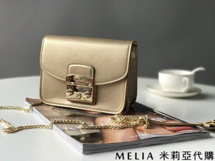 Melia 米莉亞代購 商城特價 數量有限 每日更新 FURLA 經典小方 淑女包 單肩斜背包 素色來襲 金色