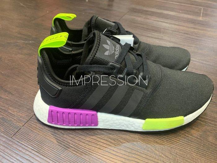 【IMPRESSION】Adidas NMD_R1 BOOST 愛迪達 三葉草 黑 紫 綠色 D96627 現貨