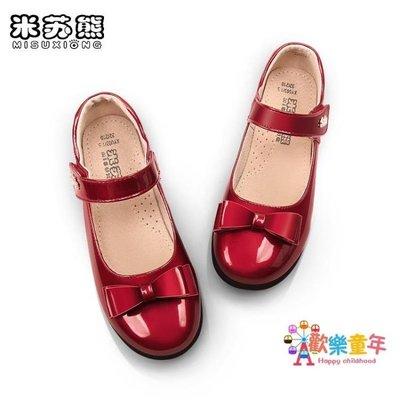 女童皮鞋黑色兒童皮質內里演出鞋春秋新款公主鞋小孩學生單鞋