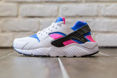 【超級特價】現貨 NIKE HUARACHE Run (GS)  白藍桃 粉紅 慢跑鞋 女/大童鞋 654275104