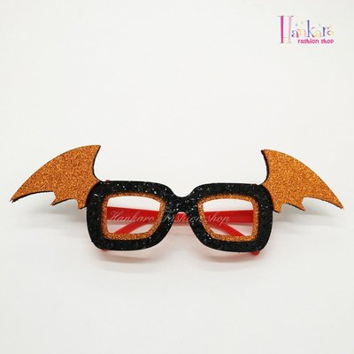 ☆[Hankaro]☆歐美創意萬聖節裝扮道具搞怪翅膀造型眼鏡