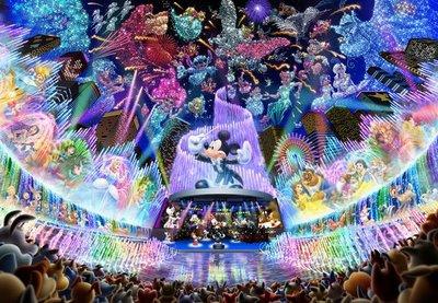 缺 日本進口拼圖 迪士尼 米奇水上音樂會 2000片夜光拼圖 2000-604