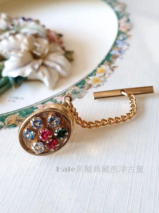 黑爾典藏西洋古董 ~美國60~70's Foster 精緻領帶針/領帶釘~Vintage復古褲子煙斗戒指珠寶