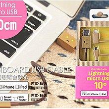 iphone X 8 7 6s 二合一 cheero 阿愣 lightning+micro 傳輸線 充電線 10cm