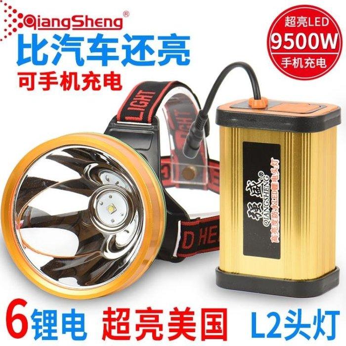 頭頂燈超亮P70頭燈強光充電8鋰電進口LED 釣魚頭戴式打獵礦燈疝氣探照燈DF  二度