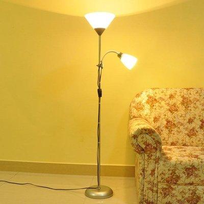落地燈-好萊仕落地燈客廳臥室簡約LED現代裝飾書房多功能子母立式台燈JY精品生活