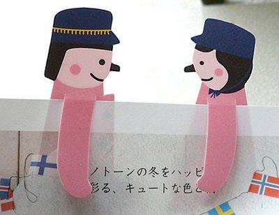 *YOOWOO*特賣【韓國空運 Dance Bookmark 學生 情侶 粉紅大衣 造型書籤 ~ Melody 愛情旋律】