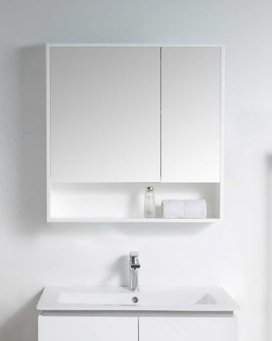 《E&J網》MooE M2-75WH 防水發泡板 75CM鏡箱(開放櫃)多功能鏡箱 鏡櫃 詢問另有優惠