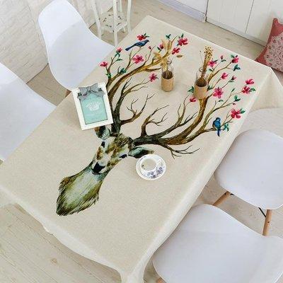 餐桌布 棉麻桌布布藝臺布創意歐式茶幾家用長方形現代簡約 df1130【全館免運】