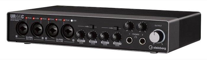 造韻樂器音響- JU-MUSIC - 全新 steinberg UR44C 錄音介面 USB Type-C