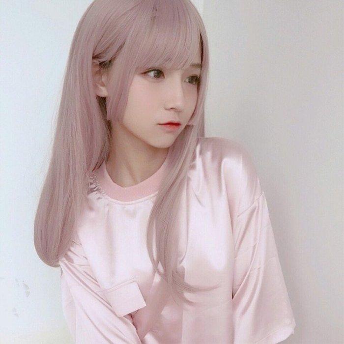 洛克小店假發套女Lolita姬發式長直發空氣劉海洛麗塔cos氣質修臉網紅長發