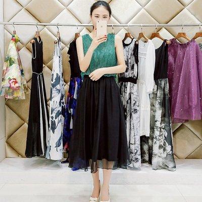 =EF依芙= 3003 韓國 首爾時尚精品 東大門同步 夏季新款韓版修身真絲顯瘦時尚連衣裙