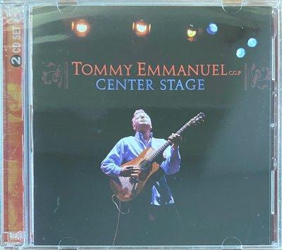 Fingerstyle指彈吉他音樂 Tommy Emmanuel(Center Stage) 2CD (美版全新未拆封)