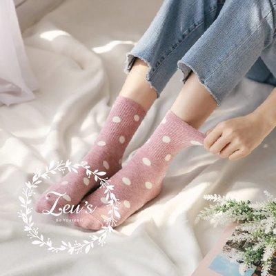 【ZEU'S】韓國可愛點點復古中筒襪『 01219903 』【現+預】AA