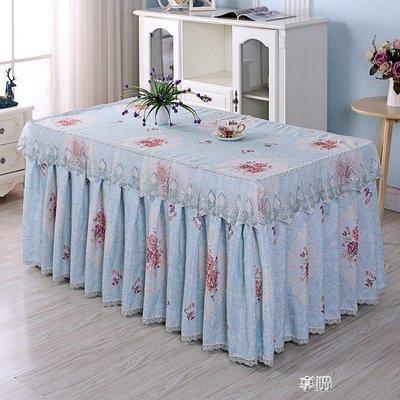 ZIHOPE 茶幾罩套長方形客廳田園蓋布臺布家用桌裙布藝蕾絲防塵罩茶幾桌布ZI812
