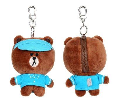 全新 特別款 韓國限定 LINE FRIENDS 高爾夫球款 Brown 熊大 13CM 公仔 掛飾 鎖匙扣 預購(可旺角門市交收)預購貨品請先入數
