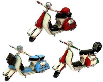 復刻版偉士牌 鄉村風 復古風 手工鐵製模型車 環島哈雷重機/腳踏自行車咖啡店裝飾品 民宿/Vespa/經典復古/機車模型